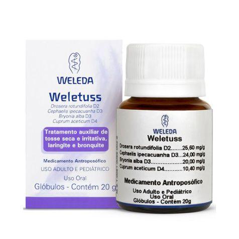 Weletuss WELEDA (Tosse seca Laringite e Bronquite) 20g Glóbulos