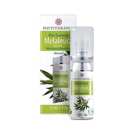 Óleo Essencial de Melaleuca Aerossol (Melaleuca alternifolia) Tea Tree PHYTOTERÁPICA 15ml