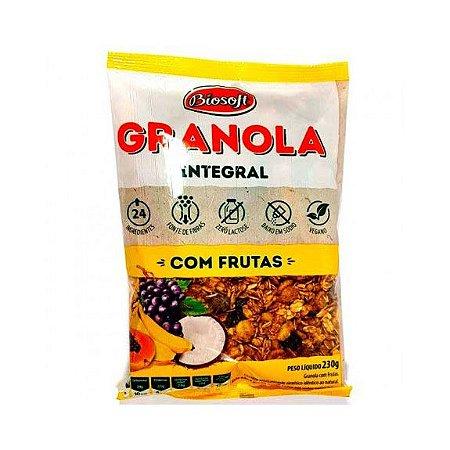 GRANOLA INTEGRAL COM FRUTAS 230G BIOSOFT