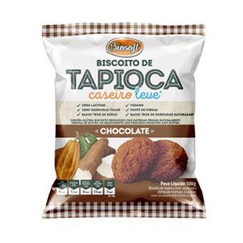 BISCOITO DE TAPIOCA CHOCOLATE 100G BIOSOFT