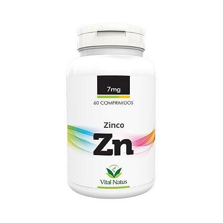 Zinco VITAL NATUS 7mg 60 Comprimidos