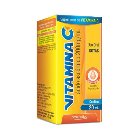 Vitamina C Gotas (Ácido Ascórbico 200mg/ml) ARTE NATIVA 20ml