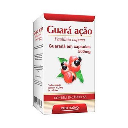 Guará Ação (Guaraná) ARTE NATIVA 500mg 30 Cápsulas