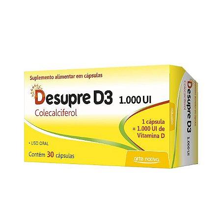 Não usar - Desupre Vitamina D3 1000 ARTE NATIVA 30 Cápsulas