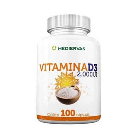 Vitamina D3 2.000ui  MEDIERVAS 100 Cápsulas