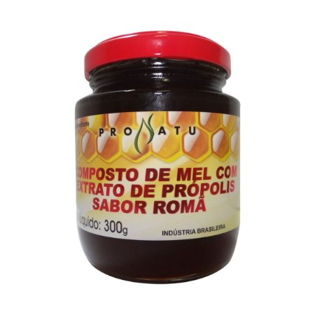 Mel Composto com Extrato de Própolis e Romã PRONATU 300g
