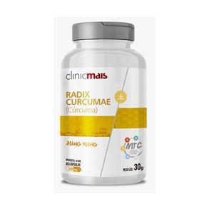 Cúrcuma (Radix Curcumae) CHÁ MAIS (ClinicMais) 500mg 60 Cápsulas