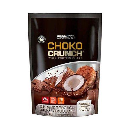 Whey Choko Crunch PROBIÓTICA Sabor Chocolate com Coco 555g
