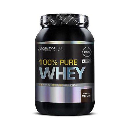 Whey Pure 100% PROBIÓTICA Concentrado Sabor Chocolate 900g