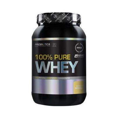 Whey Pure 100% PROBIÓTICA Concentrado Sabor Baunilha 900g