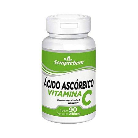 Vitamina C Ácido Ascórbico SEMPREBOM 240mg 90 Cápsulas