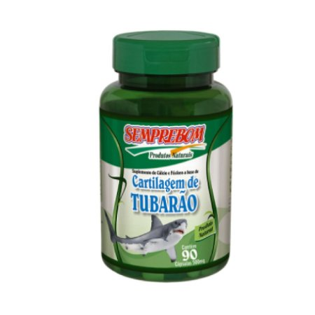 Cartilagem de Tubarão SEMPREBOM 500mg 90 Cápsulas