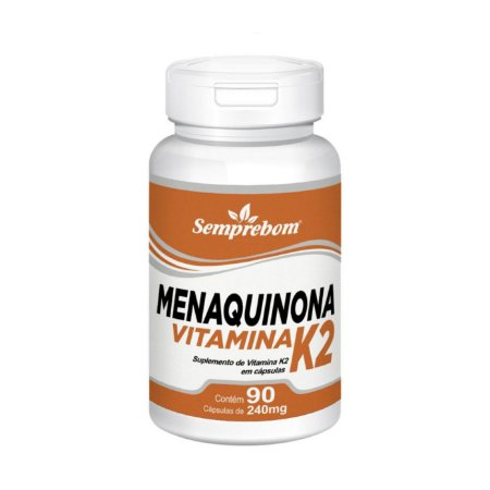 Vitamina K2 Menaquinona SEMPREBOM 240mg 90 Cápsulas