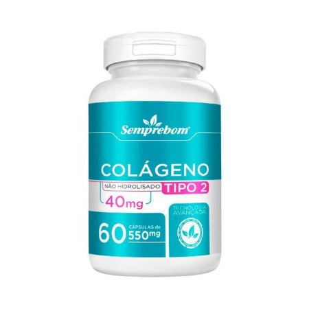Colágeno Tipo 2 SEMPREBOM 40mg 60 Cápsulas