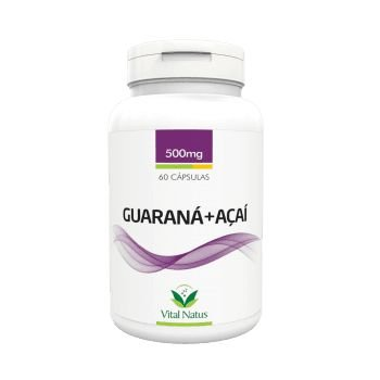 Guaraná + Açaí VITAL NATUS 500mg 60 Cápsulas
