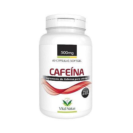 Cafeína VITAL NATUS 500mg 60 Cápsulas