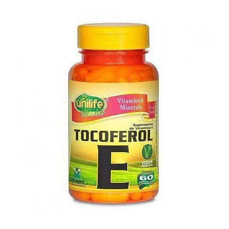 Vitamina E (Tocoferol) UNILIFE 400ui 60 Cápsulas Vegetais