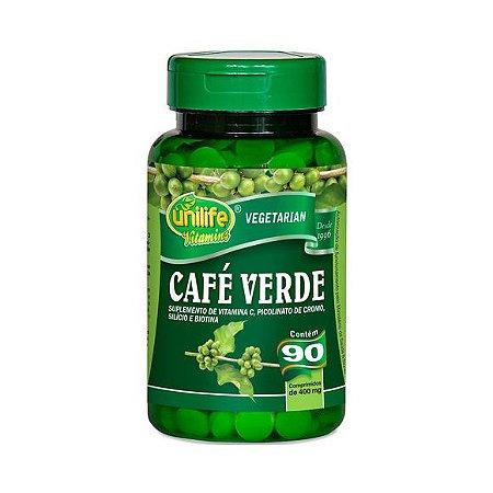 Café Verde +Silício + Picolinato de Cromo + Biotina UNILIFE 400mg 90 Comprimidos
