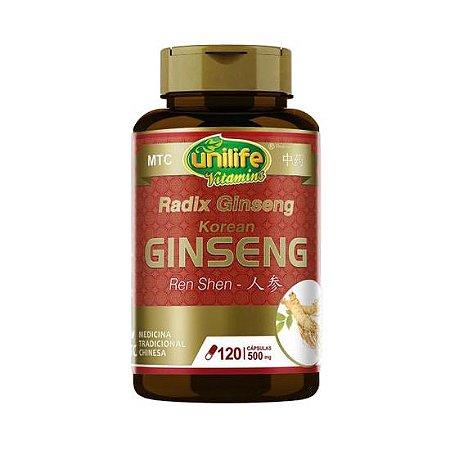 Ginseng (Ren Shen) UNILIFE (MTC) 500mg  120 Cápsulas Vegetais