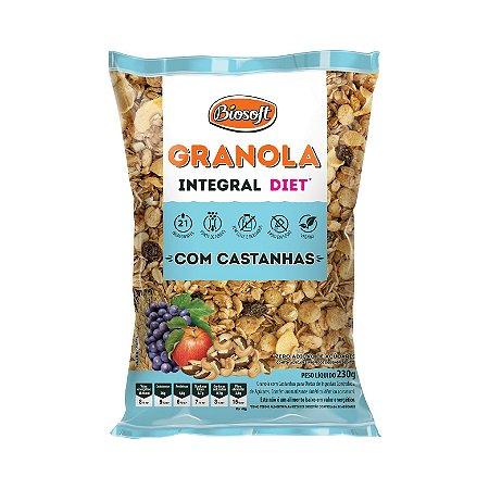 GRANOLA INTEGRAL COM CASTANHAS 230G BIOSOFT