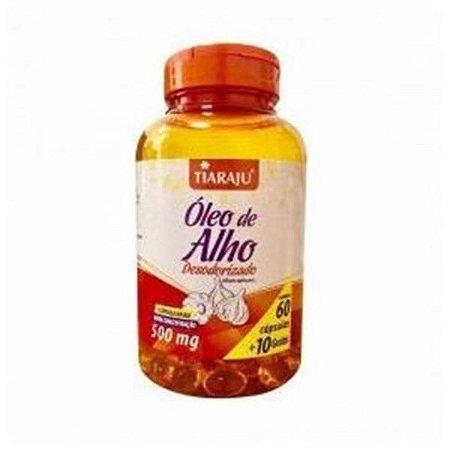 Óleo de Alho Desodorizado TIARAJU 500mg 60 + 10 Cápsulas