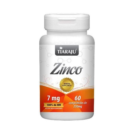Zinco TIARAJU 29,59mg 60 Comprimidos
