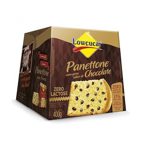 PANETTONE COM GOTAS SABOR CHOCOLATE 400G LOWCUCAR
