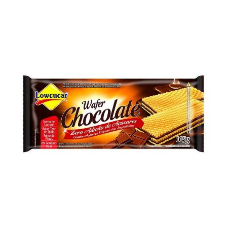 Wafer Zero Acucar Lowcucar Chocolate 115g