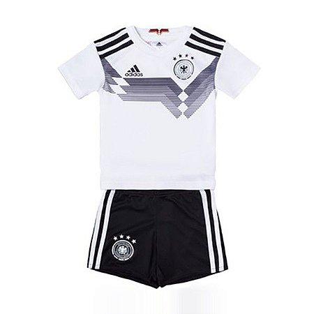 Conjunto Infantil Seleção Alemanha Home 18 19 Torcedor Adidas ... 099d4113a8948