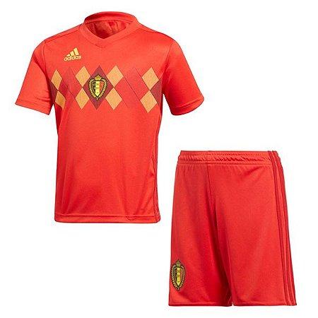 conjunto Infantil Bélgica Home 18 19 Torcedor Adidas - MERCADO ... 8bf1a4ffcf57a