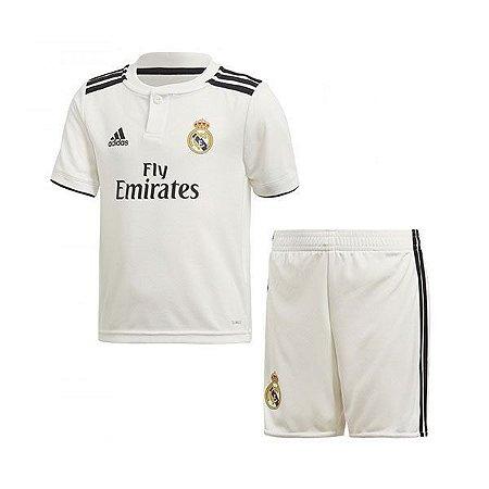 Conjunto Infantil Real Madrid Home 18 19 Torcedor Adidas - MERCADO ... c3328293852bf