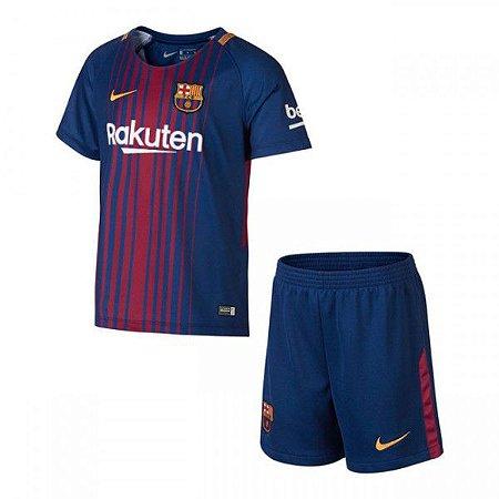 Conjunto Infantil Barcelona Home 17 18 Torcedor Nike - MERCADO ... d0acf8596d610
