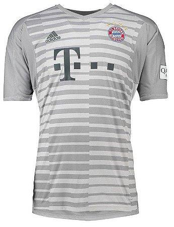 Camisa Bayern de Munique Goleiro 18 19 Torcedor Adidas Masulina ... 8d60548f329dd