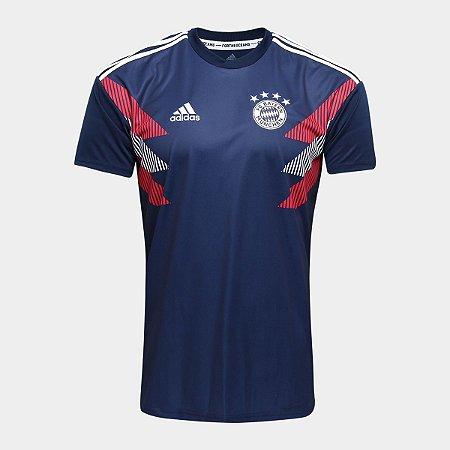 Camisa Bayern de Munique Pré Jogo 2018 Torcedor Adidas Masculina ... 9343950da66e3