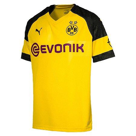 5edd6069b6 Camisa Borussia Dortmund Home 18 19 Torcedor Puma Masculina ...