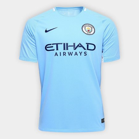 4cc1cb388d Camisa Manchester City Home 17 18 Torcedor Nike Masculina - MERCADO ...