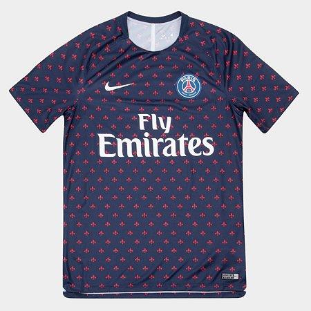 Camisa Paris Saint Germain Pré Jogo 2018 Torcedor Nike Masculina ... 42f092db436d1