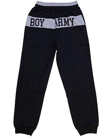 Calça Juvenil Boy Army Difusão Preta