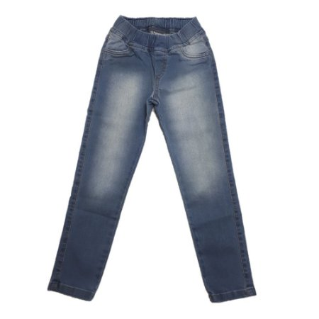 Calça Jeans Infantil Menina Com Elástico Jeito Infantil