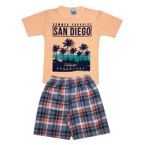 Conjunto Menino San Diego Laranja Ralakids