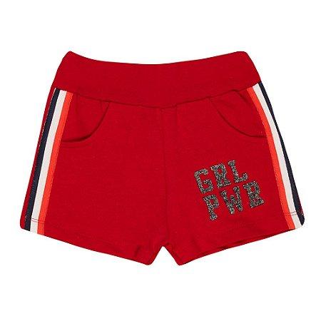 Shorts Infantil Girl Kibs Kids Vermelho