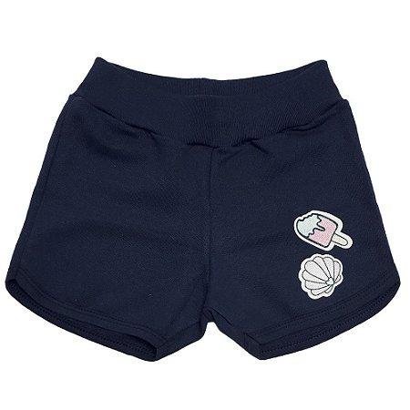 Shorts Infantil Patch Kibs Kids Marinho
