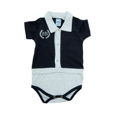 Body Bebê Pólo Sonho Do Bebê Preto