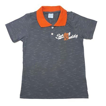 Camiseta Gola Polo Juvenil Wilbertex Chumbo