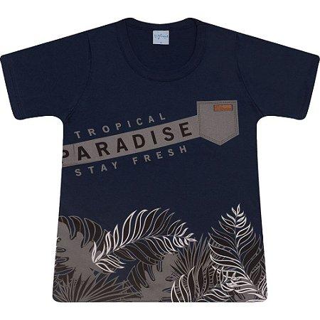 Camiseta Juvenil Paradise Wilbertex Marinho