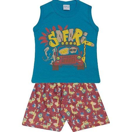 Conjunto Infantil Safari Wilbertex Azul