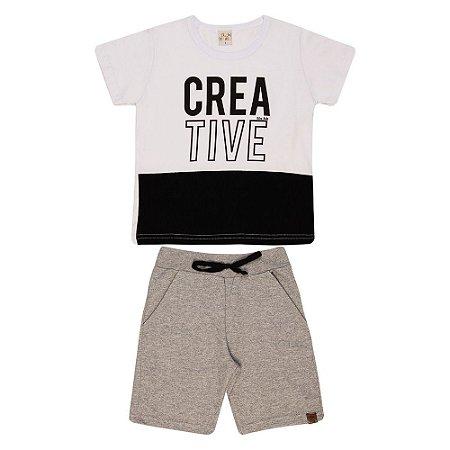 Conjunto Infantil Creative Kibs Kids Branco