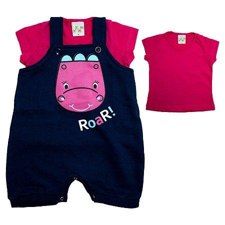 Conjunto Bebê Dina Kibs Kids Marinho/Pink