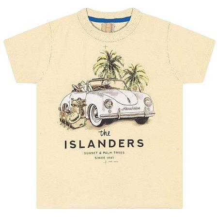 Camiseta Infantil / Juvenil Fusca Hrradinhos Amarela