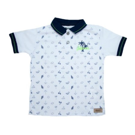Camiseta Gola Polo Summer Minore Branco